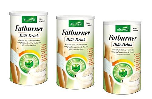ALSIROYAL Figura Fatburner Diät-Drink 3 x 500g NEU