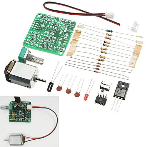 ILS - KM-1 DC 6-12V PWM Motor Speed Controller Kit DIY Motor Speed Regulator Set Sealed Potentiometer Stepless Speed Control With Long Service Life Stable Performance Small Noise And Large Torque Function (7-rocker Switch-controller)