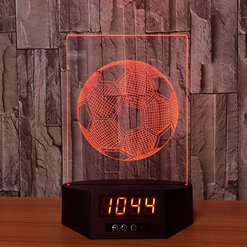 Bären-deckenleuchte (Fußball Acryl 3D Kalender Nachtlicht LED 7 Farbe Fernberührungsschalter Schreibtischlampe Atmosphäre Lampe Kreatives Geschenk han-9812)