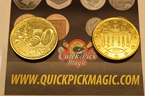 QUICK PICK MAGIC EIN Paar VON ECHT ZWEISEITIG 50 Cent Euro [1 Zwei Kopf und 1 Zwei Geschwänzte Euro Münze]