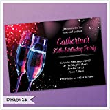 Personalised Birthday Invitations Personalised 18th 21st 30th 40th 50th 60th