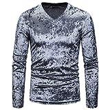 KIMODO Casual personnalité Senior Casual Revers de Diamant T-Shirt Top Blouse