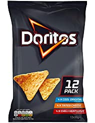 Doritos Variety Pack Tortilla Chips, 30 g, Pack of 12