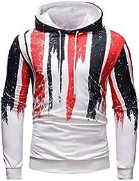BUSIM Men's Autumn Long Sleeve Sweater Print Hoodie Hoodie Sweatshirt Top Casual Sweatshirt Jacket Personality...