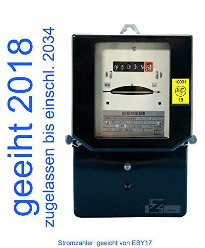 Wechselstromzähler 10(60) A geeicht für Verrechnungszwecke zugelassen (max. 13,8kW) von Prüfstelle EBY17