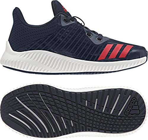 adidas Fortarun K, Sneakers Basses Mixte enfant, Rouge, 3 EU Bleu (Maruni/rojbas/ftwbla)