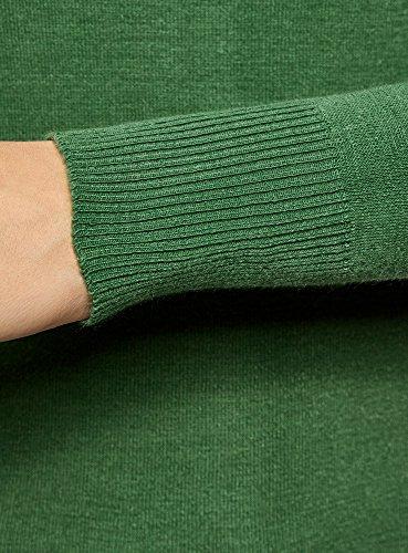 oodji Ultra Donna Maglione Basic in Filato Morbido Verde (6E00N)