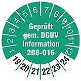 100 Stück 18 mm Prüfplaketten geprüft nach DGUV Information 208-016 Leitern und Tritte Prüfetiketten 2019-2024