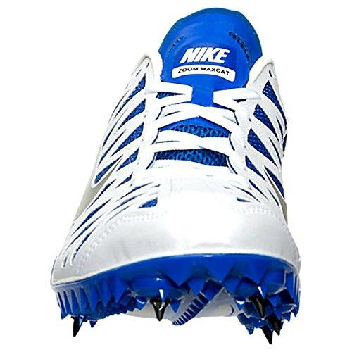 Nike Unisex-Erwachsene Zoom Maxcat 4 Turnschuhe Weiß / Schwarz / Blau (Weiß / Schwarz-Racer blau)