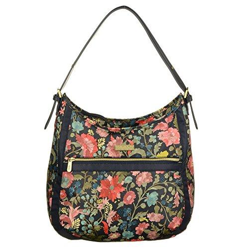 LiLiÓ Hobo Bag LIL7545-918-Midnight Damen Schultertasche Handtasche (35x13x37,5 cm) -