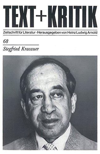 Siegfried Kracauer (TEXT+KRITIK 68)