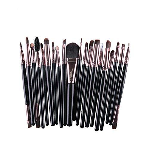 Vi.yo 20 Pcs mini maquillage pinceau ensemble professionnel fondation sourcil fard à paupières eyeliner pinceaux ensemble pour le visage et les yeux (style 3)