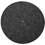 Plateau de Plateau en Vinyle, Coussin Anti-Vibration en Laine pour Tourne-disques en Vinyle, Accessoire de Protection pour Audiophile(Noir)