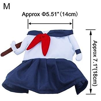 sourcingmap® femme lycée uniformes style robe de chat / bleu et blanc