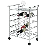 Mondex inx445 – 00 Servierwagen Range Flaschen Trolley Design Metall Chrom