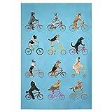artboxONE Poster 60x40 cm Für Kinder Cycling Dogs hochwertiger Design Kunstdruck - Bild Für Kinder von Coco de Paris
