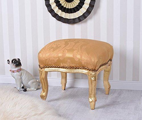 Antik Hocker Barock Gold Sitzhocker Fussbänkchen Schemel Fußschemel Palazzo Exklusiv