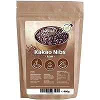 Kakao Nibs 400g - Premium Rohe Kakaonibs ▪ Wehle Sports Rohkostqualität abgefüllt in Deutschland (400g)