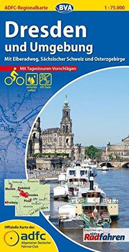 ADFC-Regionalkarte-Dresden-und-Umgebung-mit-Tagestouren-Vorschlgen-175000-rei-und-wetterfest-GPS-Tracks-Download-Mit-Elberadweg-Schsischer--Osterzgebirge-ADFC-Regionalkarte-175000