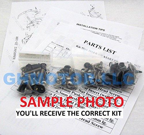 19981999200020012002200320042005Superhawk Firestorm VTR1000F Silber Verkleidung Schrauben Kit