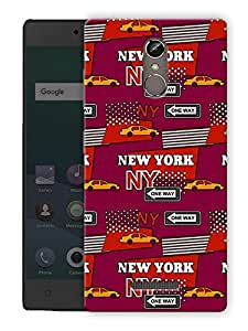 """Humor Gang new york life Printed Designer Mobile Back Cover For """"Gionee Elife S6S"""" (3D, Matte Finish, Premium Quality, Protective Snap On Slim Hard Phone Case, Multi Color)"""