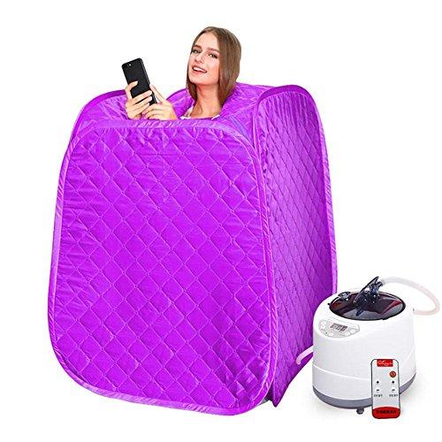 Z&HX-Portable Gesichts-, Sauna Indoor-, Infrarot-Sauna, Sauna Anzug Gewichtsverlust für Frauen , purple (Dampf-infrarot-sauna)