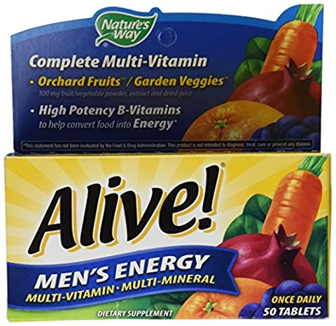 Nature's Way Alive! Multivitamin de l'énergie Des Hommes ( Men's Energy Multivitamin & Multimineral ) x50tabs