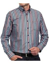 CASAMODA Herren Freizeithemd, gestreift 431793600/450