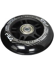 Fila Wheels 80 mm/82 a + ABEC5 + Aluminio Spacer ruedas de 6 mm, Negro