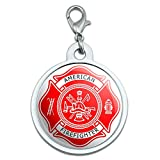 Firefighter Feuerwehr Malteser Kreuz–American–Rot Groß verchromtem Metall Pet Dog Cat ID Tag
