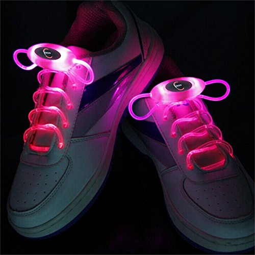 the latest c9906 12ab3 Iluminación 2Watts1 Paires Rose 80cm Rougeoyante Dentelle Zapatillas de  deporte LED Dentelle Rougeoyante Bâtons Brillant Neon