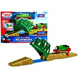 "Fisher Price Year 2011 Thomas And Friends Trackmaster ""Engine Powered Destination"" Series Motorized Railway Battery Powered Tank Engine Train Set - RAISE And LOWER DRAWBRIDGE With Percy Engine And Drawbridge With Flip Switch"