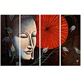 PPD Radha - Krishna Unique Designs Collection   Combo Of 4 Frames   Wall Painting   Best Choice For Home Decoration   Amazingly Beautiful Creations   Size - (61cm X 91.5 Cm)
