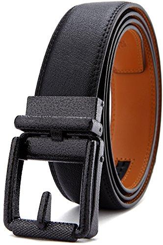 BULLIANT Hombres cinturón de cuero correa de trinquete, hombres con Click hebilla, Trim de ajuste exacto