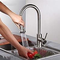 Gyps Faucet Kitchen Faucet Handle Inoxidable Lavabo Grifo La fría y Caliente de Cobre Pull-
