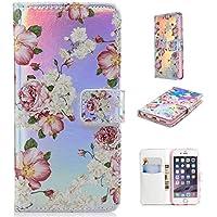 Nadoli Handytasche für iPhone 6S (4.7 Zoll),PU Leder Klapphülle Laser Rosa Rose Blumen Muster Handyhülle Brieftasche... preisvergleich bei billige-tabletten.eu
