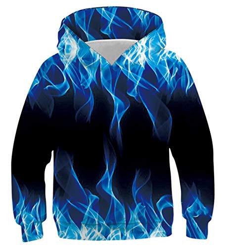 Fanient 3D gedrucktes Cooles blaues Rauch-lustiges Muster-Pullover-Kapuzenpulli-langes Hülsen-Sweatshirt Unisex