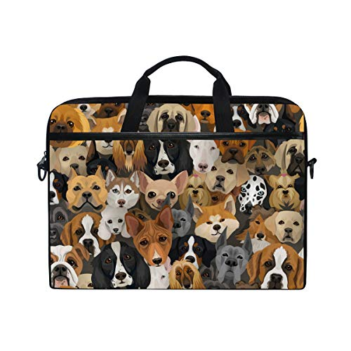 171e672fd5b9 Laptop Case, Cute Dogs Face Pattern Computer Sleeve Protective Bag 3 Layer  with Durable Zipper for Lenovo Hp MacBook Pro Neoprene Notebook 14 15 15.4  ...