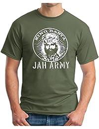 OM3 King Rasta - T-Shirt Jah Army Roots Reggae Dancehall Irie Dub Music, S - 5XL