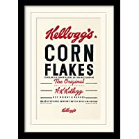 "30 x 40 cm Kelloggs samfme ""Corn Flakes"" montado y impresión enmarcada"
