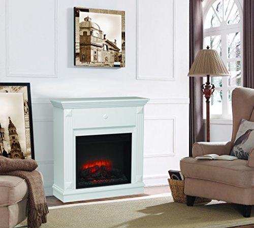 Classic Flame moderner weisser Wandkamin Modell Ralo