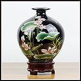 15 * 22 Cm/Keramik Vase Lotus Vase Chinesischen Stil/Schwarz/Grün,B