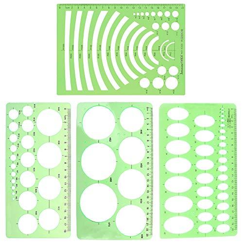 3 Pcs Template, Geometric Drawin...