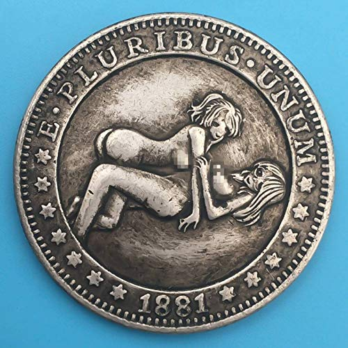 kunmingdahang Durable Best Morgan Dollar Münzen - 1881 Hobo Nickel Coin -Uncirculated Old Coin -USA Old Commemorative Gift Coin -It is Handmade Crafts Perfect Quality(None Picture Color) -