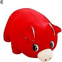 WIN86haib 2019 Chinese New Year Mascot Cartoon Pig Plush Doll Stuffed Toy Children Gift