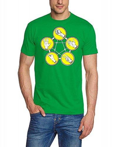 Pierre papier ciseaux Big Bang Theory Pierre-feuille-ciseaux T-shirt S–XXXL couleurs assorties - Vert/jaune