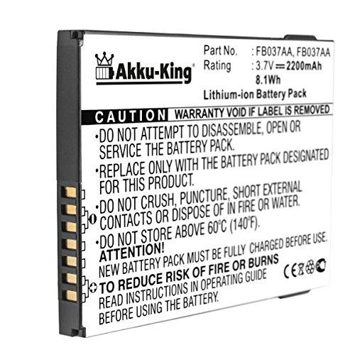 Akku-King Akku für HP IPAQ 200 Serie, 210, 214 - Li-Ion ersetzt 410814-001, 419306-001, FB036AA - 2200mAh -