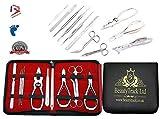 Beautytrack cortadores toenail podologia manicura pedicure 11pc nuevo pedicure kit UK