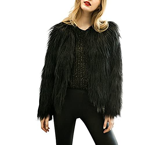 Black fur jacket uk