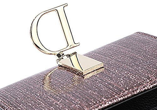 CLOTHES- Lady Wallet Europe e il portafoglio multifunzionale del sacchetto di mano del raccoglitore del cuoio lungo degli Stati Uniti ( Colore : Rosa ) Rosa